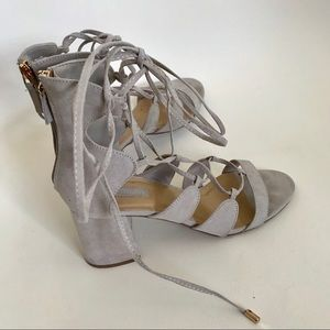Forever 21 lace up block heels size 7